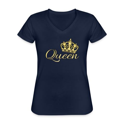 Queen Or -by- T-shirt chic et choc - T-shirt classique col V Femme