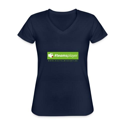 #teamsplayer - Klassisches Frauen-T-Shirt mit V-Ausschnitt
