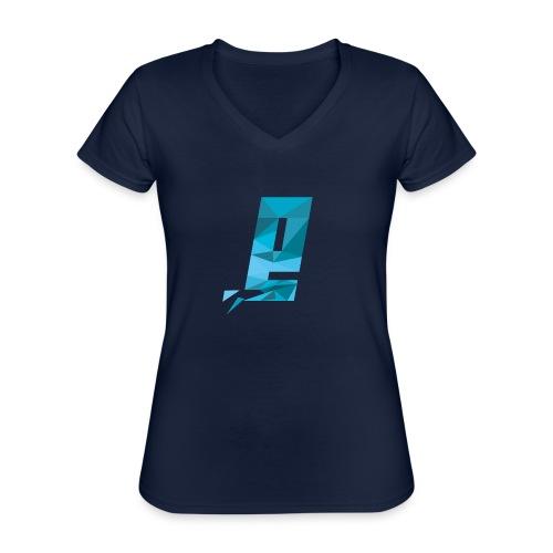 Eventuell Logo small - Shirt White - Klassisches Frauen-T-Shirt mit V-Ausschnitt