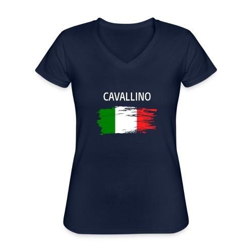 Cavallino Fanprodukte - Klassisches Frauen-T-Shirt mit V-Ausschnitt