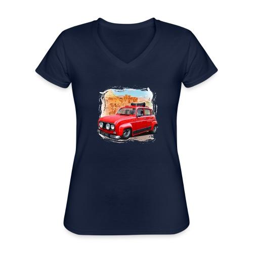 R4 4L prête au départ pour le Raid dans le désert - T-shirt classique col V Femme