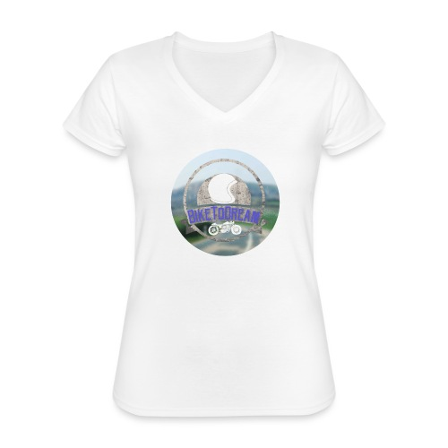 BikeToDream - T-shirt classique col V Femme