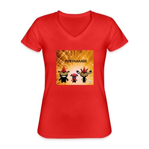 Fiestaaa - T-shirt classique col V Femme