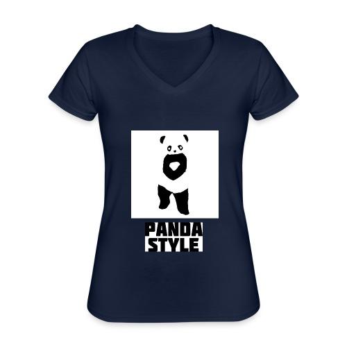fffwfeewfefr jpg - Klassisk dame T-shirt med V-udskæring