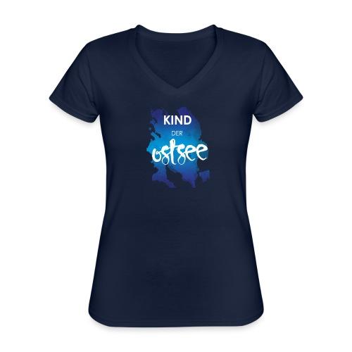 Kind der Ostsee - Klassisches Frauen-T-Shirt mit V-Ausschnitt