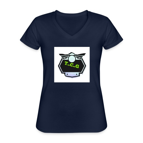 Cool gamer logo - Classic Women's V-Neck T-Shirt