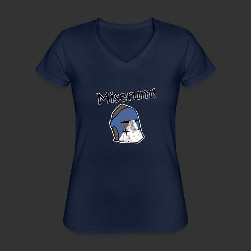 Warden Cytat Miserum! - Klasyczna koszulka damska z dekoltem w serek