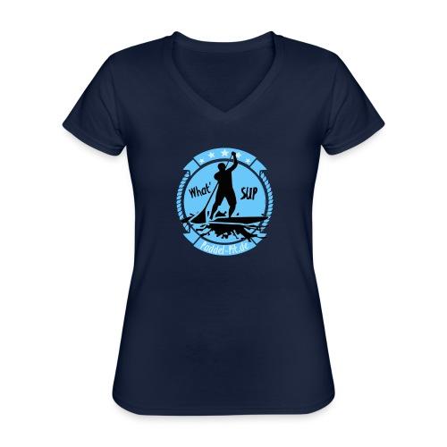 What`SUP. SUP Board Stand Up Paddling Sport - Klassisches Frauen-T-Shirt mit V-Ausschnitt