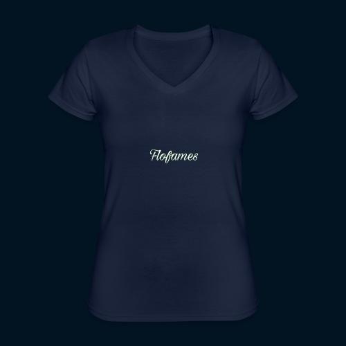 camicia di flofames - Maglietta da donna classica con scollo a V