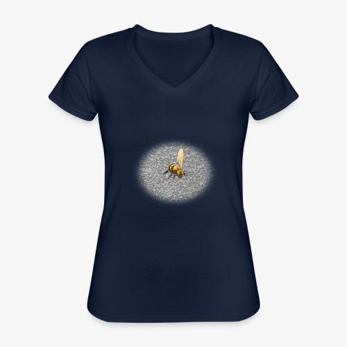 biene mit steienen - Klassisches Frauen-T-Shirt mit V-Ausschnitt
