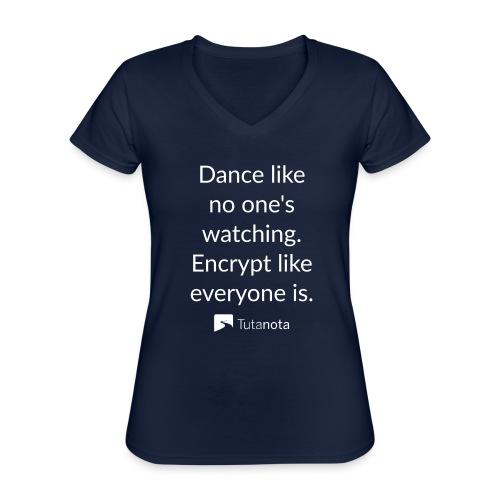 Tutanota dance - Klassisches Frauen-T-Shirt mit V-Ausschnitt