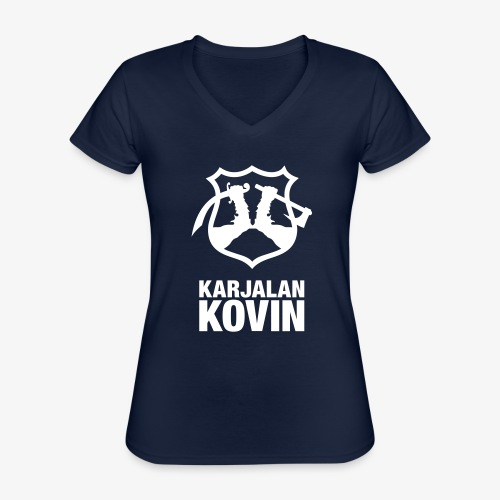 karjalan kovin pysty - Klassinen naisten t-paita v-pääntiellä