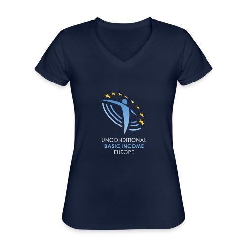 02 ubie on black centered png - Klassiek vrouwen T-shirt met V-hals