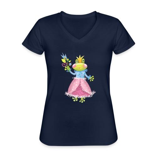 Prinzessin Frosch - Klassisches Frauen-T-Shirt mit V-Ausschnitt