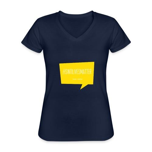 Sinti Lives Matter - Klassisches Frauen-T-Shirt mit V-Ausschnitt