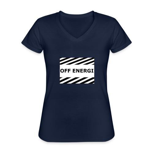 OFF ENERGI officiel merch - Klassisk T-shirt med V-ringning dam