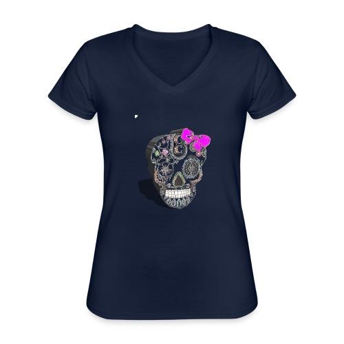 Tête de mort mexicaine 3D - T-shirt classique col V Femme