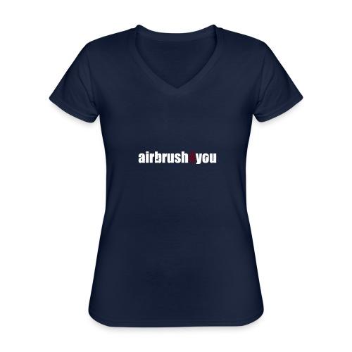 Airbrush - Klassisches Frauen-T-Shirt mit V-Ausschnitt