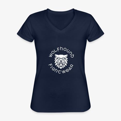 logo round w - Classic Women's V-Neck T-Shirt