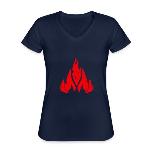 fire - Classic Women's V-Neck T-Shirt