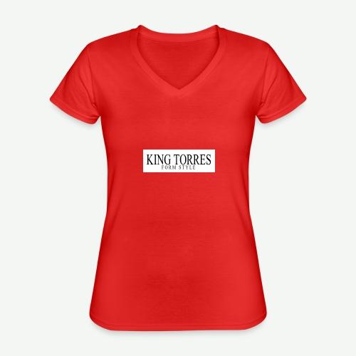 king torres - Camiseta clásica con cuello de pico para mujer