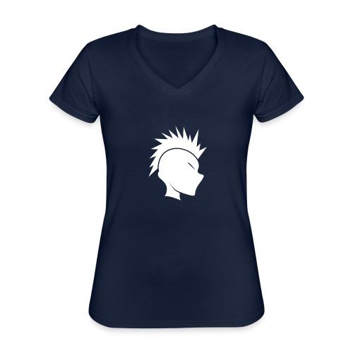 Cally Mohawk Logo - Classic Women's V-Neck T-Shirt