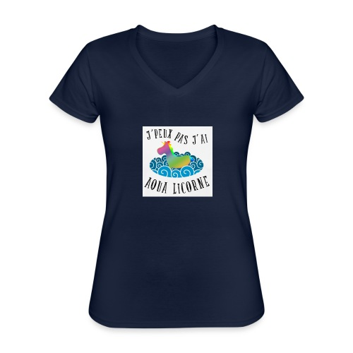 image - T-shirt classique col V Femme