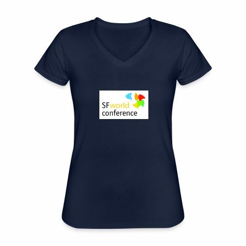SFworldconference T-Shirts - Klassisches Frauen-T-Shirt mit V-Ausschnitt