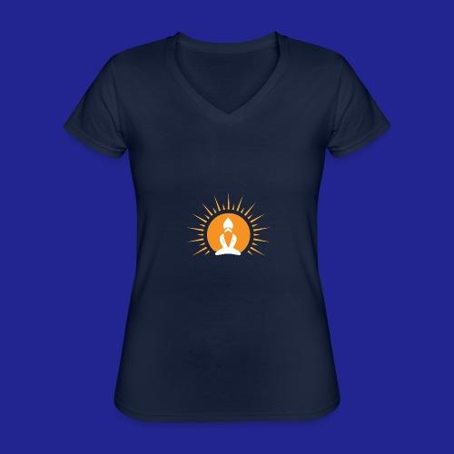 Guramylyfe logo white no text - Classic Women's V-Neck T-Shirt