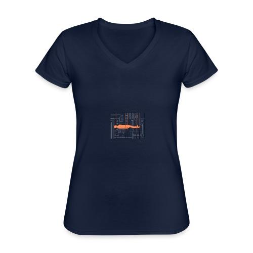 DIAGRAMME - T-shirt classique col V Femme