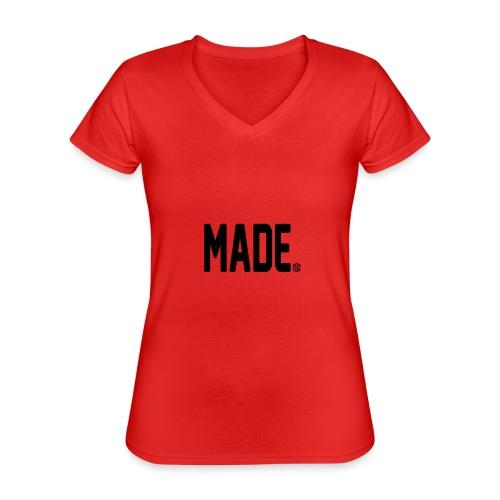 madesc - Klassisk T-shirt med V-ringning dam