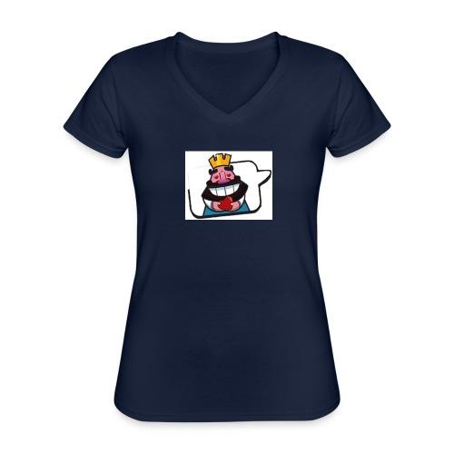 Cartoon - Maglietta da donna classica con scollo a V