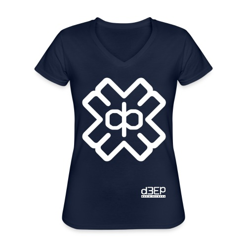 July D3EP Blue Tee - Classic Women's V-Neck T-Shirt