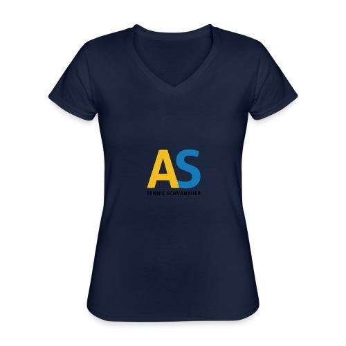as logo - Maglietta da donna classica con scollo a V