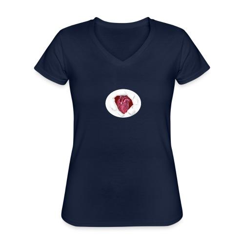 CUORE BATTICUORE - Maglietta da donna classica con scollo a V