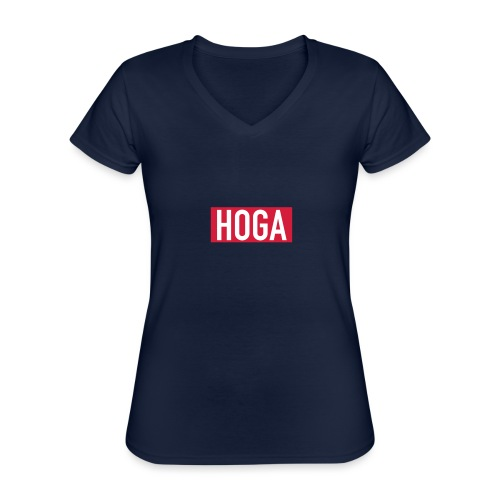 HOGAREDBOX - Klassisk T-skjorte med V-hals for kvinner