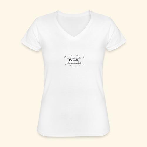 Verdens sødeste kæreste - Klassisk dame T-shirt med V-udskæring