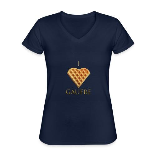 i love gaufre - T-shirt classique col V Femme