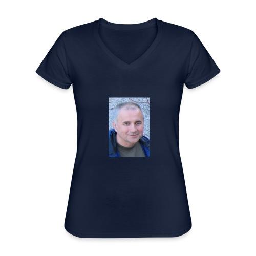 tibor csikos - Klassisk T-shirt med V-ringning dam