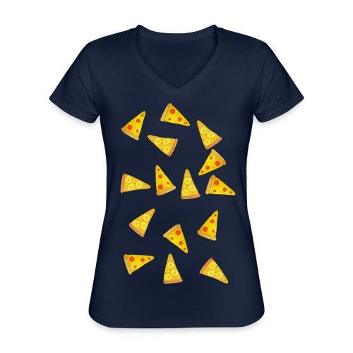Pizza is Bae - Klassisches Frauen-T-Shirt mit V-Ausschnitt