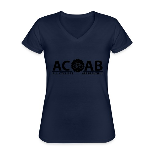 ACAB All Cyclists Are Beautiful T-Shirts - Klassisches Frauen-T-Shirt mit V-Ausschnitt