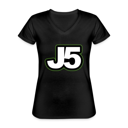 kasket - Klassisk dame T-shirt med V-udskæring