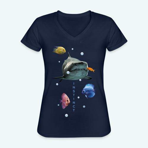 Instinkt - Klassisches Frauen-T-Shirt mit V-Ausschnitt