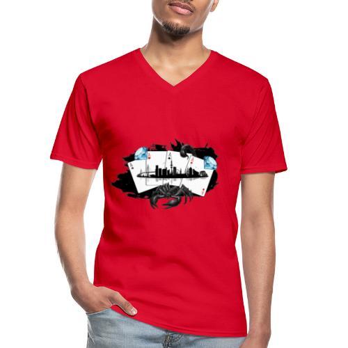 HHskyline - Klassisches Männer-T-Shirt mit V-Ausschnitt