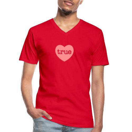TRUE LOVE Heart - Men's V-Neck T-Shirt