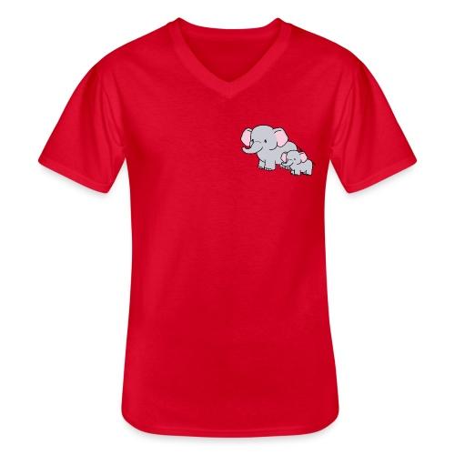 Elephants - Camiseta clásica con cuello de pico hombre