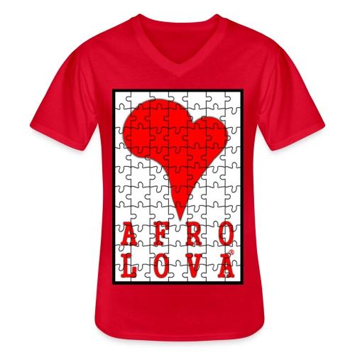 puzzle Afro Lova - T-shirt classique col V Homme