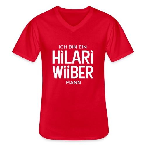 Proud Man of Hilari Wiiber - Klassisches Männer-T-Shirt mit V-Ausschnitt