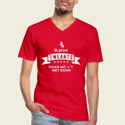 Ik proat Tweants...(lichte tekst) - Klassiek mannen T-shirt met V-hals
