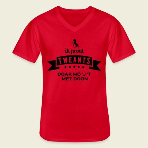 Ik proat Tweants...(donkere tekst) - Klassiek mannen T-shirt met V-hals